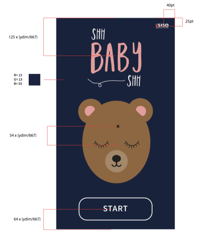 Style guide for Shh Baby Shh home screen